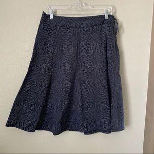 I.e blue polka dots Aline skirt size 10